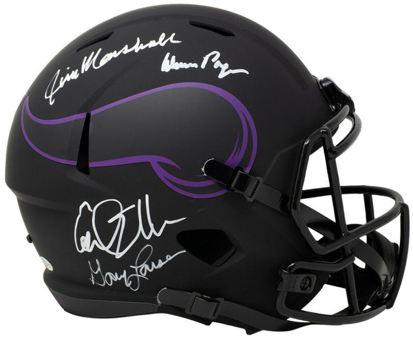 Purple People Eaters Signed Full Size Vikings Eclipse Spd Replica Helmet BAS ITP - Sports Integrity