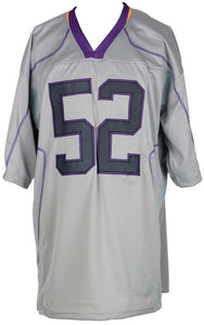 Ray Lewis Signed Custom Gray Pro Style Football Jersey JSA ITP - Sports Integrity