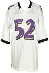 Ray Lewis Signed Custom White Pro Style Football Jersey JSA ITP - Sports Integrity