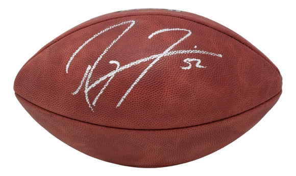 Ray Lewis Signed Ravens Wilson The Duke Super Bowl XLVII Football BAS ITP - Sports Integrity