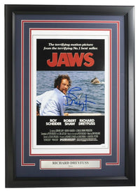Richard Dreyfuss Signed Framed 11x14 Jaws Movie Poster JSA - Sports Integrity