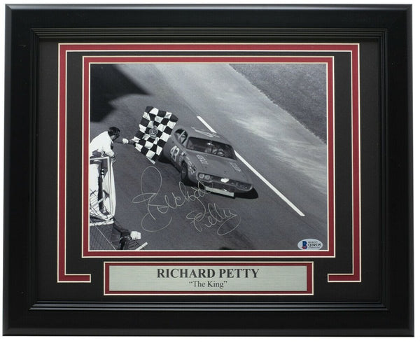 Richard Petty Signed Framed 8x10 NASCAR Racing Photo BAS Q28535 - Sports Integrity