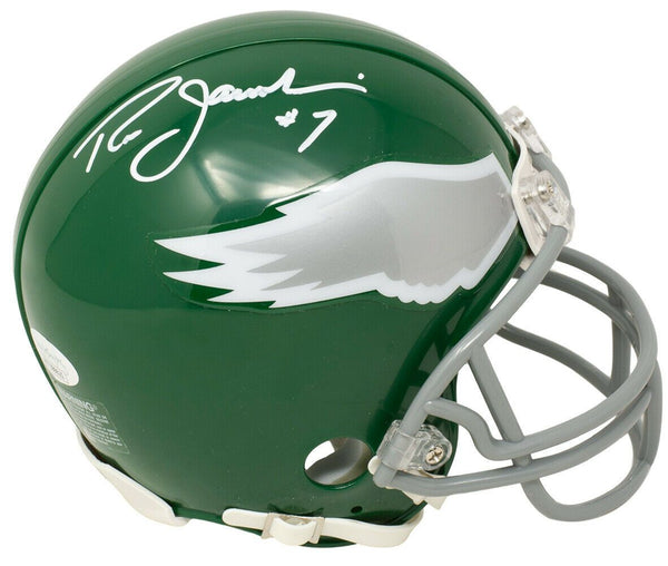 Ron Jaworski Signed Philadelphia Eagles Mini Kelly Green TB Replica Helmet JSA - Sports Integrity