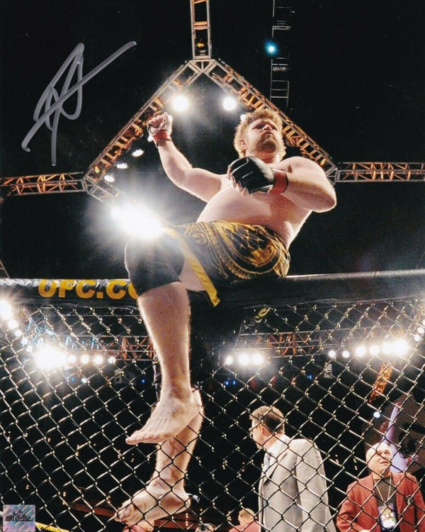 Roy Nelson Signed 8x10 UFC Cage Photo SI - Sports Integrity