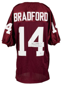 Sam Bradford Signed Custom Maroon College Style Jersey Heisman PSA/DNA Holo JSA - Sports Integrity
