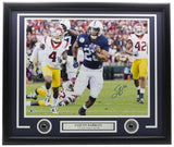 Saquon Barkley Signed Framed 16x20 Penn State Nittany Lions Photo BAS Hologram - Sports Integrity