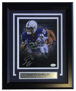 Saquon Barkley Signed Framed 8x10 Penn State Nittany Lions Collage Photo JSA ITP - Sports Integrity