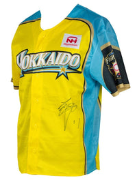 Shohei Ohtani Signed Hokkaido Fighters Yellow Baseball Jersey BAS LOA AA07089 - Sports Integrity