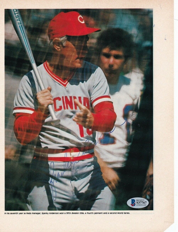 Sparky Anderson Cincinnati Reds Signed Magazine Page Photo BAS - Sports Integrity