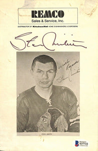 Stan Mikita Signed Chicago Blackhawks Photo BAS - Sports Integrity
