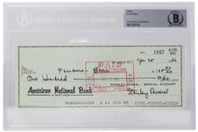Stan Musial Signed St. Louis Cardinals Personal Bank Check #1857 BGS - Sports Integrity