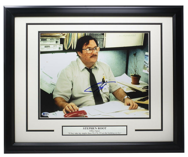Stephen Root Signed Framed 11x14 Office Space Photo BAS - Sports Integrity