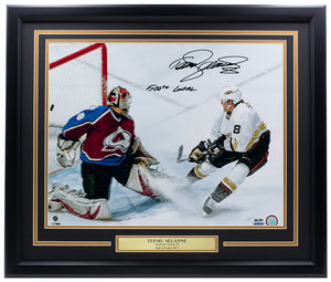 Teemu Selanne Signed Framed Anaheim Ducks 16x20 Photo 500th Goal UDA