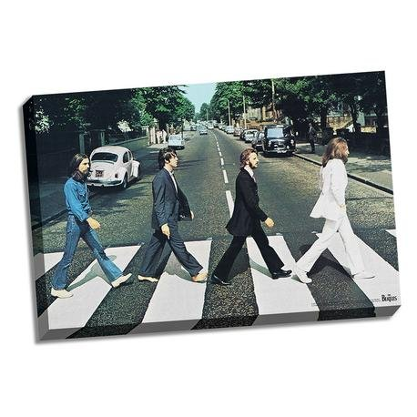 The Beatles Stretched 24x36 Abby Road Licensed Canvas - Sports Integrity