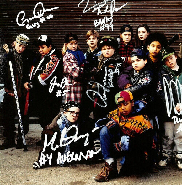 The Mighty Ducks Cast Multi Signed 11x14 Photo BAS ITP - Sports Integrity