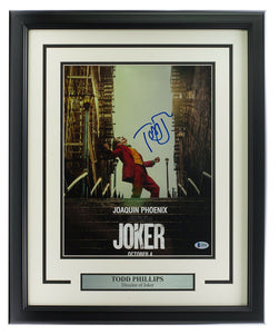 Todd Phillips Signed Framed 11x17 Joker Poster Photo BAS - Sports Integrity