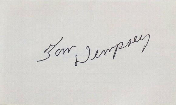 Tom Dempsey New Orleans Saints Signed Index Card SI - Sports Integrity