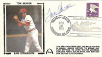 Tom Seaver Signed New York Mets Envelope BAS Y19907 - Sports Integrity