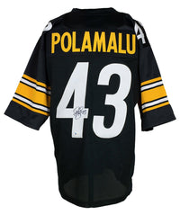 Troy Polamalu Signed Custom Black Pro Style Football Jersey BAS ITP - Sports Integrity