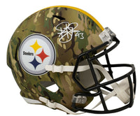 Troy Polamalu Signed Steelers Full Size Camo Speed Replica Helmet BAS ITP - Sports Integrity