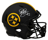 Troy Polamalu Signed Steelers Full Size Speed Authentic Eclipse Helmet BAS ITP - Sports Integrity
