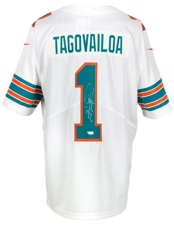 Tua Tagovailoa Signed White Nike Dolphins Limited Jersey Fanatics - Sports Integrity
