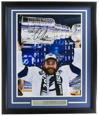 Victor Hedman Signed Framed 16x20 Tampa Bay Lightning Trophy Photo Fanatics - Sports Integrity