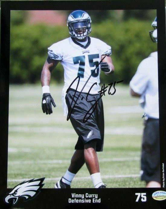 Vinny Curry Auto/ Philadelphia Eagles 8x10 Photo SI - Sports Integrity