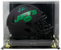 Vinny Testaverde Signed Jets Full Size Matte Black Eclipse Helmet w/Case JSA ITP - Sports Integrity