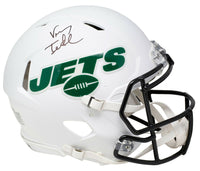 Vinny Testaverde Signed New York Jets Full Size White Speed Authentic Helmet JSA - Sports Integrity