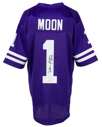Warren Moon Signed Custom Purple Pro Style Football Jersey HOF 06 JSA ITP - Sports Integrity