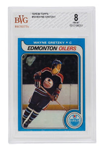 Wayne Gretzky 1979-80 Topps #18 Edmonton Oilers Hockey Card BGS NM-MT 8 - Sports Integrity