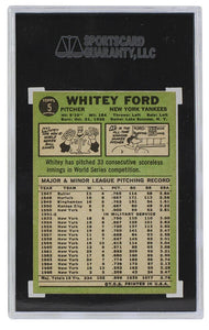 Whitey Ford New York Yankees 1967 Topps #5 Slabbed Baseball Card SGC 8 NM-MT - Sports Integrity