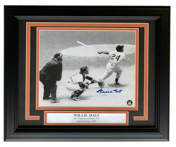 Willie Mays Signed Framed San Francisco Giants 8x10 Photo Mays Holo - Sports Integrity