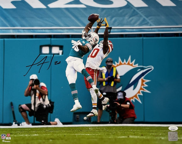 Xavien Howard Signed 16x20 Miami Dolphins Catch Photo JSA ITP - Sports Integrity