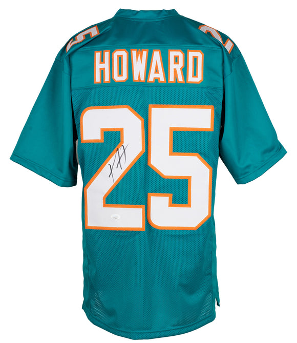 Xavien Howard Signed Custom Teal Pro Style Football Jersey JSA ITP