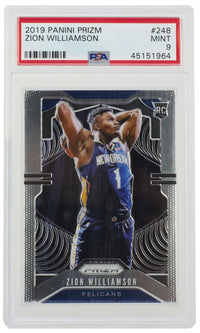 Zion Williamson 2019 Panini Prizm #248 Pelicans Basketball Card PSA Mint 9 - Sports Integrity