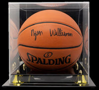 Zion Williamson Pelicans Signed In Black Spalding NBA Basketball Fanatics w/Case - Sports Integrity
