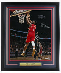 Zion Williamson Signed Framed New Orleans Pelicans 16x20 Vertical Photo Fanatics - Sports Integrity