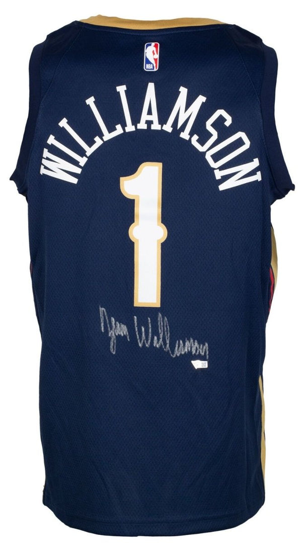 Zion Williamson Signed Pelicans Swingman Authentic NBA Jersey Fanatics - Sports Integrity