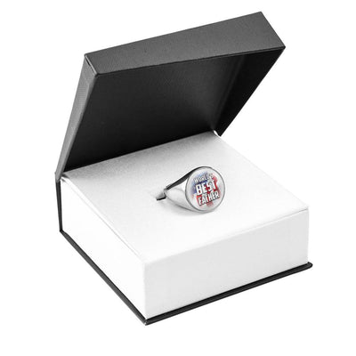 World's Best Father Signet Ring (Silver & Gold)