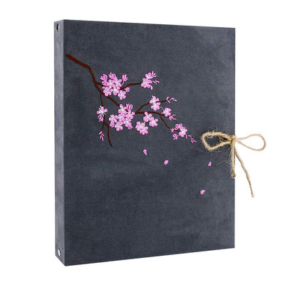 Photo Album Scrapbook, Cherry Blossom Flannel Grey