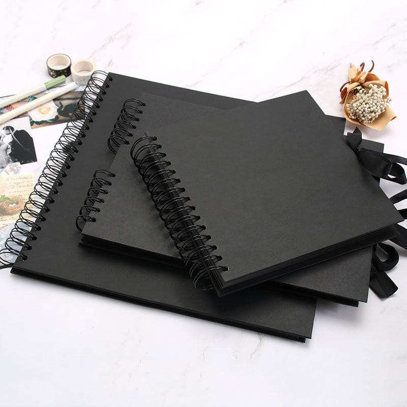 Black Scrapbook Photo Album - 3 Size Available