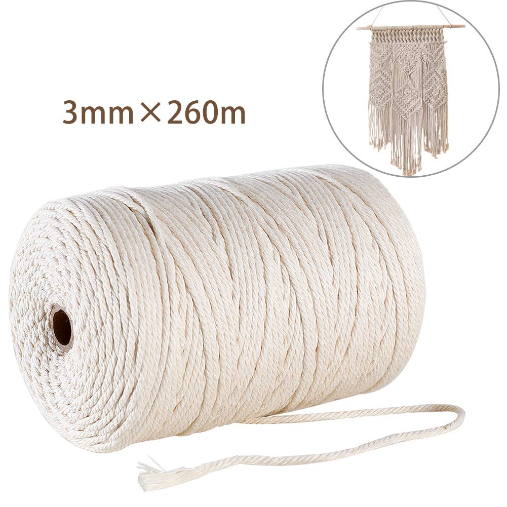 Macrame Cord 3mm x 850 ft 260m Beige