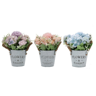 VEESUN Artificial Hydrangea Flowers Plants Set of 3