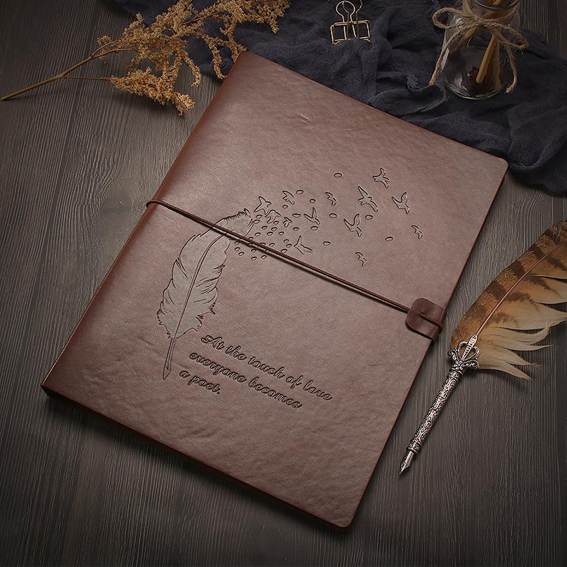 A4 Sketchbook Refillable Journal - Quill Pen