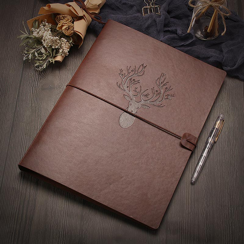 A4 Sketchbook Refillable Blank Journal - Reindeer