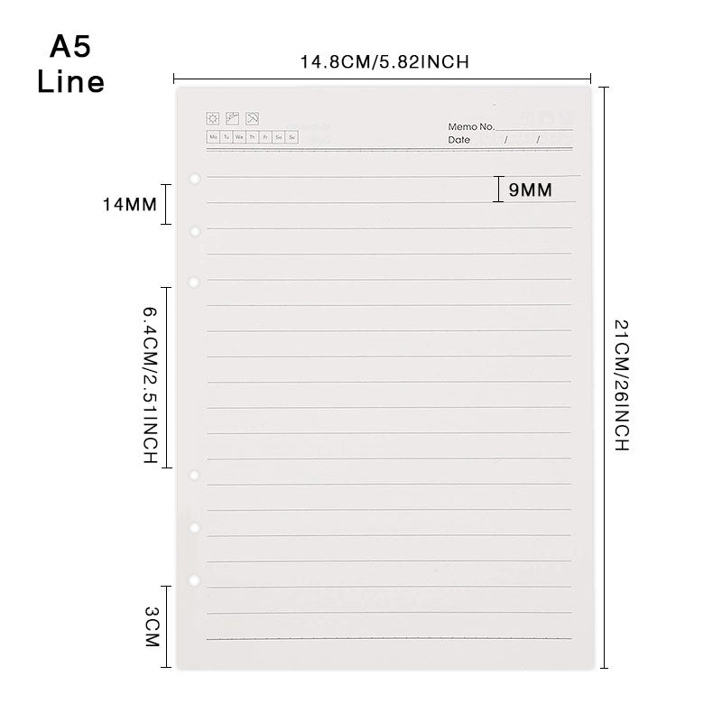 a5 lined paper refill