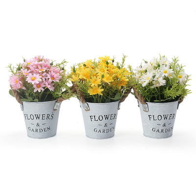VEESUN Artificial Daisy Flowers Plants Set of 3