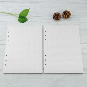 6-hole Dotted Refill Pages for A5 Notebooks, 120pcs